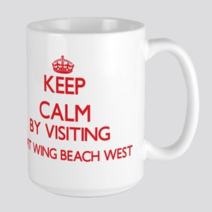 Keep calm by visiting Port Wing Beach West Wi Mugs