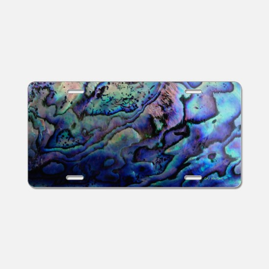 Abalone Aluminum License Plate