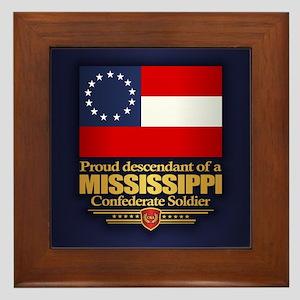 Mississippi Proud Descendant Framed Tile