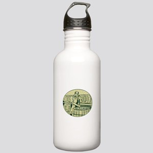 Brewer Brewing Beer Etching Water Bottle
