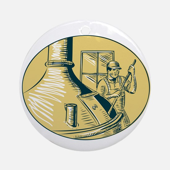 Brewermaster Brewer Brewing Beer Etching Ornament