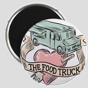 Food Truck Heart Fork Etching Magnets