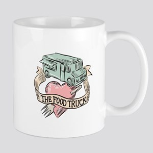 Food Truck Heart Fork Etching Mugs