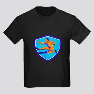 Track And Field Athlete Jumping Hurdle T-Shirt