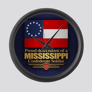 Mississippi Proud Descendant Large Wall Clock