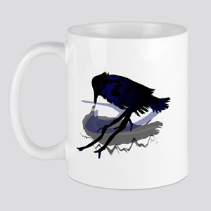 Raven drinking water with his shadow Mug