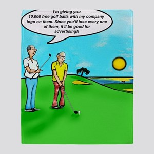 Golf Balls Dave Ell Throw Blanket