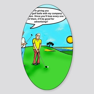 Golf Balls Dave Ell Sticker (Oval)