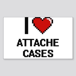 I Love Attache Cases Digitial Design Sticker