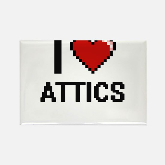 I Love Attics Digitial Design Magnets