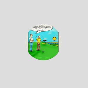 Golf Balls Dave Ell Mini Button