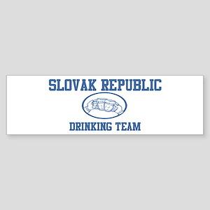 SLOVAK REPUBLIC drinking team Bumper Sticker