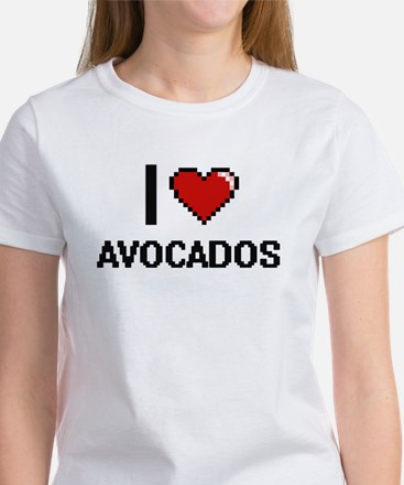 I Love Avocados Digitial Design T-Shirt