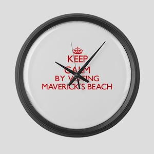 Keep calm by visiting Maverick'S Large Wall Clock