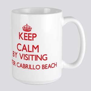 Keep calm by visiting Outer Cabrillo Beach Ca Mugs