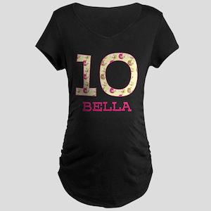 10th Birthday Personalized Maternity Dark T-Shirt