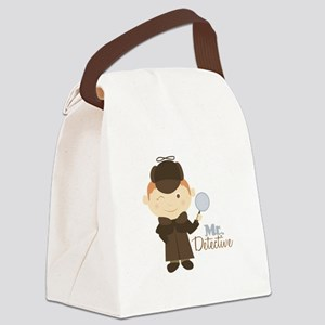 Mr Detective Canvas Lunch Bag