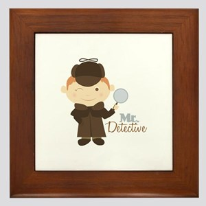 Mr Detective Framed Tile