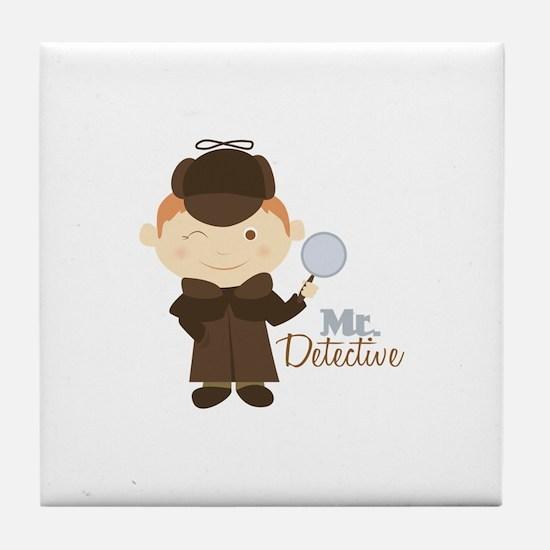 Mr Detective Tile Coaster