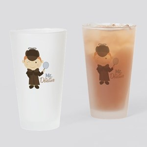 Mr Detective Drinking Glass