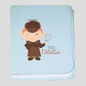 Mr Detective baby blanket
