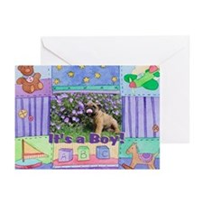 It's a Boy Bulldog Greeting Cards (Pk of 10)