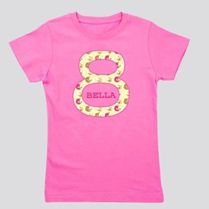 8th Birthday Personalized Girl's Tee