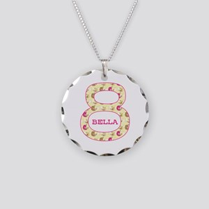 8th Birthday Personalized Necklace Circle Charm