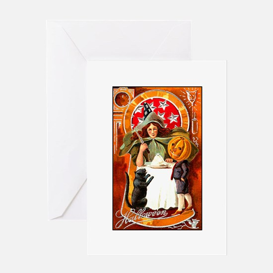 Victorian Witch Greeting Card