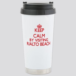 Keep calm by visiting R Stainless Steel Travel Mug