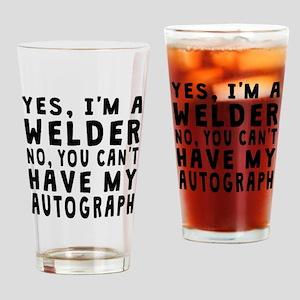 Welder Autograph Drinking Glass