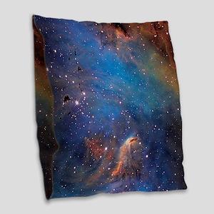 Nebula Burlap Throw Pillow