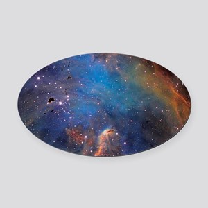 Nebula Oval Car Magnet