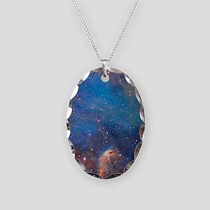 Nebula Necklace Oval Charm