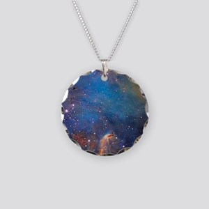 Nebula Necklace Circle Charm
