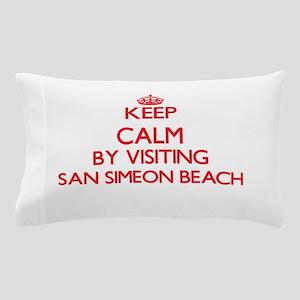 Keep calm by visiting San Simeon Beach Pillow Case