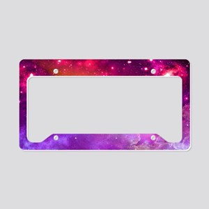 Red And Purple Nebula License Plate Holder