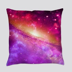 Red And Purple Nebula Everyday Pillow