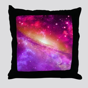 Red And Purple Nebula Throw Pillow