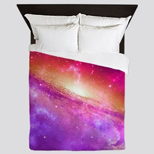 Red And Purple Nebula Queen Duvet