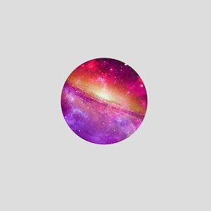 Red And Purple Nebula Mini Button
