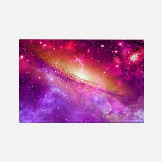 Red And Purple Nebula Magnets