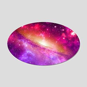 Red And Purple Nebula Wall Sticker