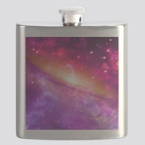 Red And Purple Nebula Flask