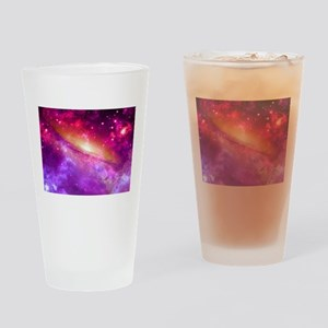 Red And Purple Nebula Drinking Glass