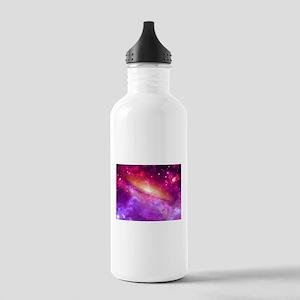 Red And Purple Nebula Sports Water Bottle