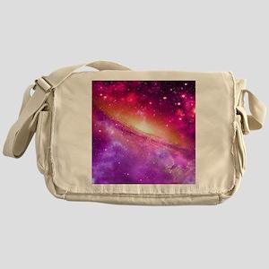 Red And Purple Nebula Messenger Bag