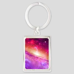 Red And Purple Nebula Keychains