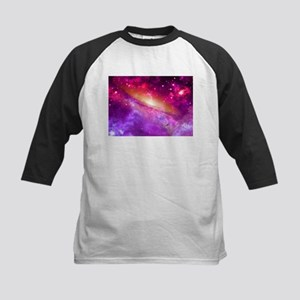 Red And Purple Nebula Baseball Jersey