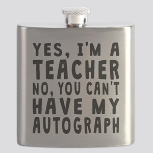 Teacher Autograph Flask
